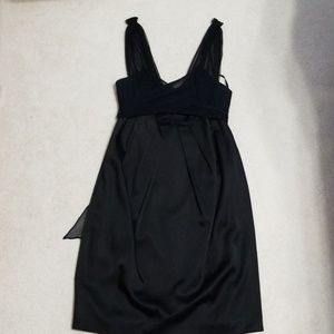 STUNNING BCBGMAXAZRIA midrise black satin dress
